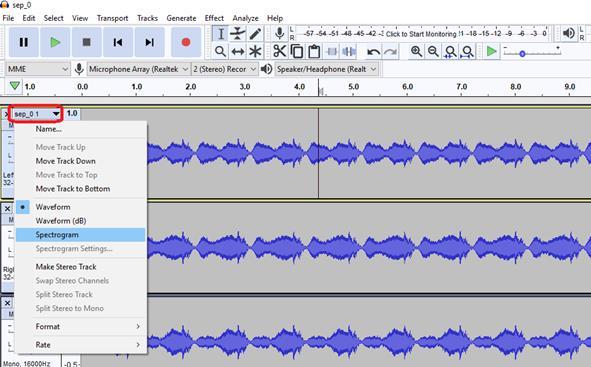 Recording TSP Response using RASP-ZX